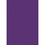 A4 Card, Small White Dots on PURPLE 240gsm Polka Dot Card
