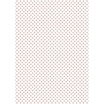 A4 Card, Small Red dots on WHITE, 240gsm Polka Dot Card