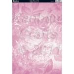 A4 Cardstock. 300gsm. Floral Print VOGUE ROSE-Pink CRD1197