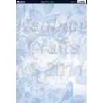 A4 Cardstock. 300gsm. Floral Print VOGUE ROSE-Blue CRD1198