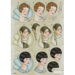 3D Die Cut Decoupage Sheet ART DECO LADIES makes 3D toppers