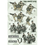 3D Die Cut Decoupage Sheet, THE FRONT LINE Army Forces