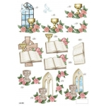 3D Die Cut Decoupage Sheet CHRISTENING.Communion Religious
