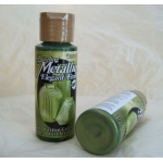 DecoArt Acrylic Paint.  59ml.  Dazzling Metallics.  FESTIVE GREEN