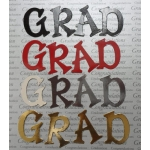 Diecut GRAD Letter sets. Black, Red, Silver & Gold. Graduations