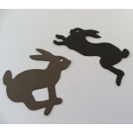 16 Die cut RABBITS, Cute Coloured bunny shapes, perfect for Easter & Men's Hunting* cards