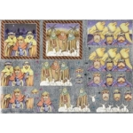 Dufex 3D Decoupage Sheet, Christmas 3 Wise Men, Kings, Shepherds & Camels