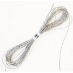 SILVER Metallic Embroidery Thread 8m Skein 12ply