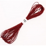 RICH DARK RED Metallic stranded Embroidery Thread 8m of 12ply