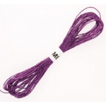 PURPLE Metallic Embroidery Thread 8m of 12ply