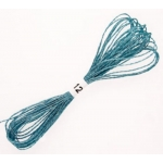 ICE BLUE Metallic Embroidery Thread 8m of 12ply