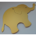 8 Elephant Tags in Gold.  Perfect place names, Wishing Trees.  Can also be supplied without the hole.