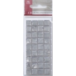 Mosaic Tile Embellishments SILVER Self-adhesive 10mm