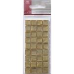 Mosaic Tile Embellishments GOLD Self-adhesive 10mm