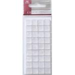 Mosaic Tile Embellishments WHITE Iridescent Self-adhesive 10mm