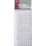 Mosaic Tile Embellishments WHITE Iridescent Self-adhesive 5mm