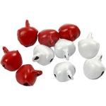 50 JINGLE BELLS 8mm, Red & White