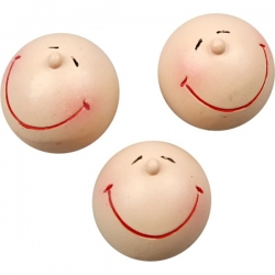 "4 SMILEY HEADS 25mm (1"") dia,  Poly"