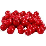 40 Chunky RED Wooden Beads 12mm, 3mm large hole