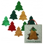 Christmas Wishes TREES GLITTER & FELT Christmas Embellishments