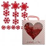 Scandi-Chic FELT SNOWFLAKES Christmas Embellishments