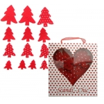 Scandi-Chic FELT TREES Christmas Embellishments