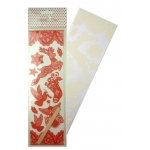 2 Sheets LACE TRANSFERS RUB ONS, Scandi-Chic Red & Cream