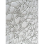 Crystal Lace Glitter Mesh SILVER has lots craft applications
