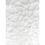 Crystal Lace Glitter Mesh WHITE IRRIDESCENT has lots craft applications