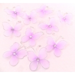 Mesh Butterfly Embellishments LILAC LIGHT PURPLE rrp £2.99