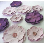 handcrafted Roses, Paper Flowers PURPLES  rrp £2.99