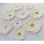 handcrafted Roses, Paper Flowers WHITE and CREAM  rrp £2.99