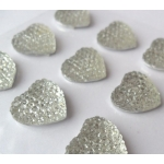 Pack of 12 DAZZLERS Embellishments CLEAR 18mm Heart