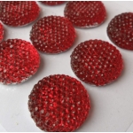 Pack of 12 DAZZLERS Embellishments RED 18mm dia