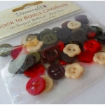 Dovecraft Back to Basics CHRISTMAS VINTAGE Buttons Pack