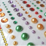 Riverbank Revels GEMS & PEARLS self adhesive by Helz Cuppleditch