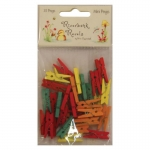 Riverbank Revels, Pack 35 Wooden Mini Pegs by Helz Cuppleditch