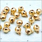 Pack of 10 Metal Jingle Bells 8mm GOLD