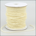 By the Metre, Strung Rounded Pearl Embellishments 4mm IVORY