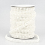 By the Metre, Strung Pearl Square Embellishments 10mm WHITE