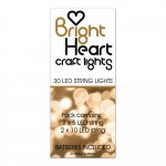 Bright Heart CRAFT LIGHTS Led String Lights. 2 Long, 2 short