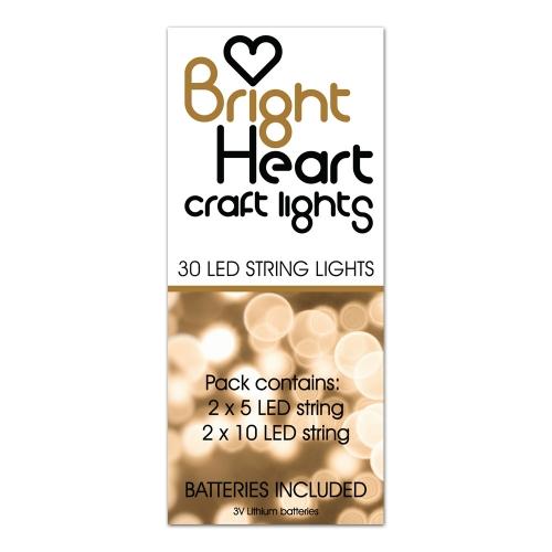 Led String Lights Short : Bright Heart CRAFT LIGHTS Led String Lights. 2 Long, 2 short