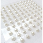 Pack 100 WHITE Faux Pearls Bling Gems, Self Adhesive 3mm