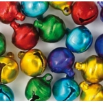 30 Jingle Bells 10mm, Assorted Colours