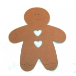 8 Large DieCut shapes GINGERBREAD MEN. Christmas/Folk Art etc