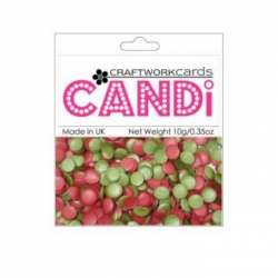 Craftworkcards CANDI, Holly Berries, Legless Brads, 10g Pack
