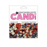 Craftworkcards CANDI, Patriotic, Legless Brads, 10g Pack