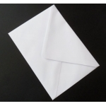 Pack 12 Large C5 Envelopes WHITE 100gsm. Oversize, fits A4 folded