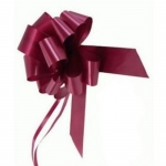 large Pull Bow 50mm wide ribbon, Burgundy