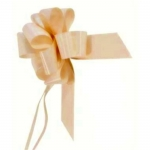 large Pull Bow 50mm wide ribbon, Champagne